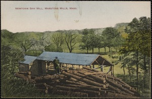 Old Mill Road is named for the last sawmill, located north of where it joins School Street.  This mill was owned by James Harvey Crocker