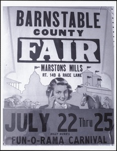 Barnstable County Fair poster from 1954