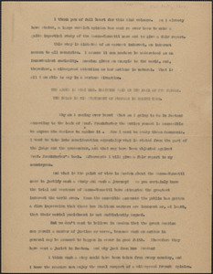 [Georg] Branting typed document, [Boston, Mass.?, approximately May 30, 1927]