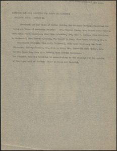 Citizens National Committee for Sacco and Vanzetti press release (copy), [Boston, Mass.], August 21, [1927]