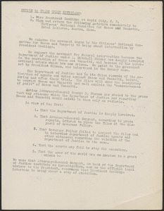 [Citizens National Committee for Sacco and Vanzetti] typed document (copy), [July-August 1927]: Notice to trade union officials
