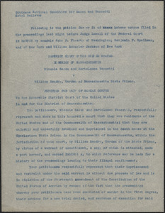 Citizens National Committee for Sacco and Vanzetti press release (copy), Boston, Mass., [August 1927]