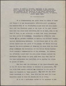 Typed remarks of Roger N. Baldwin (American Civil Liberties Union), Boston, Mass., August 23, 1937