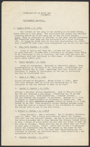 Sacco-Vanzetti Case Records, 1920-1928. Prosecution Papers. Annotated list of witnesses in government rebuttal, n.d. Box 24, Folder 22, Harvard Law School Library, Historical & Special Collections