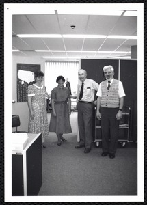 Reference staff ca 1992 lf to rt: Mary Ledger, Linda Coni, Bill Casey, Jerry Greene