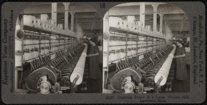 Doubling frame in a woolen mill, Lawrence, Mass.