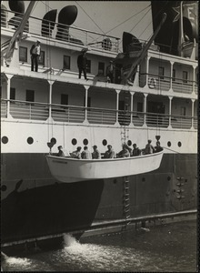 Life boat [drill] of S.S. Evangeline