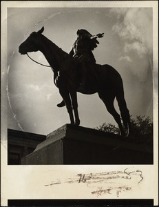 The appeal to the Great Spirit, by Cyrus Dallin at main entrance to Boston's Museum of Fine Arts