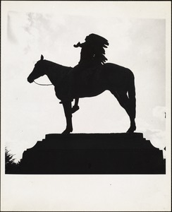 Appeal to the Great Spirit,' Cyrus Dallin's renowned American Indian on ponyback, his face lifted skyward, both arms outstretched in supplication