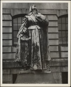 Anne Marbury Hutchinson. By Cyrus Dallin. On lawn in front of Mass. state capitol