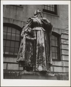 Anne Hutchinson by Cyrus Dallin. On lawn in front of Mass. state capitol