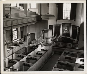 Interior of Old North Church, Boston, Mass.