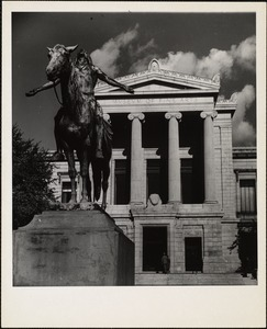 """Boston Museum of Fine Arts. Cyrus Dallin's """"appeal to the Great Spirit"""""""