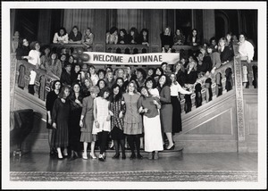 Alumnae reception welcome, May 1988