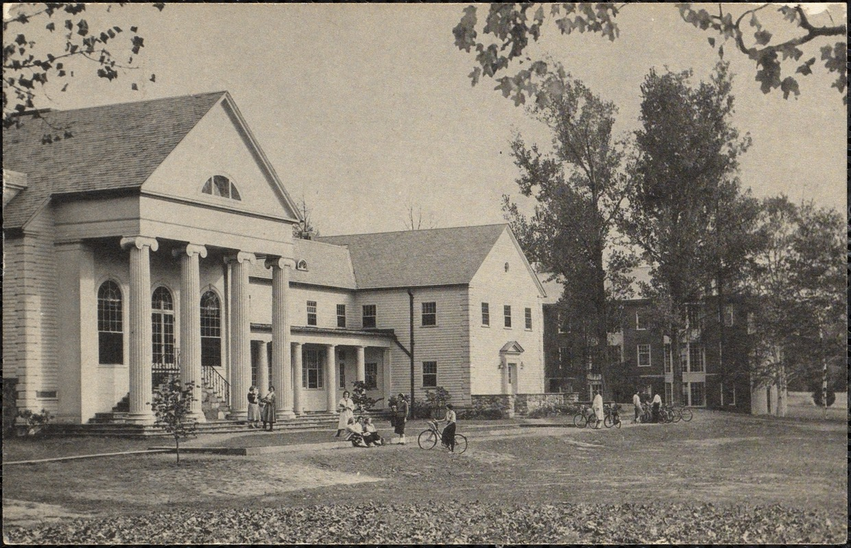 Westlea and the Alumnae Library, Pine Manor Junior College, Wellesley
