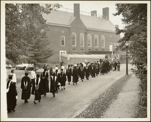 The academic procession reaching Bardwell