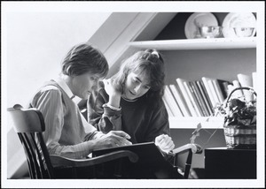 Sally Pym with a student, (ELI) ESL director