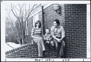 Peggy Cain and husband and son