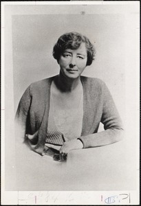 Photograph of Miss Constance Warren in 1932, when she was the relatively new president of Sarah Lawrence College. This picture was taken less than three years after she left Pine Manor, where she was principal from 1928 to 1929.