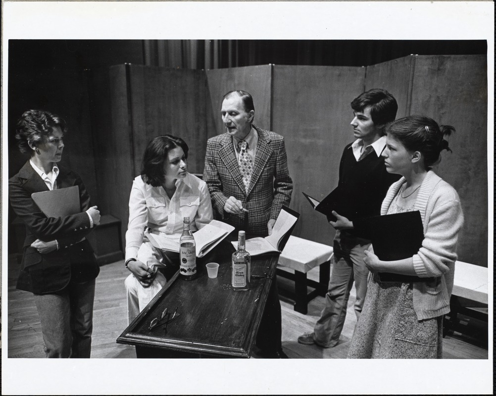 Ben Pegg with readers' theatre class, 1978