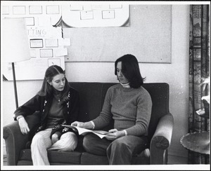 Student lounge - main house, Jan. '77