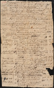 Account of Payments to Soldiers, 1775-1780