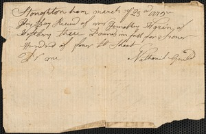 Bills and Receipts for Supplies and Services, 1775-1781