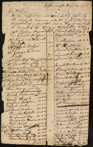 Assessments of Costs for Soldiers, 1778