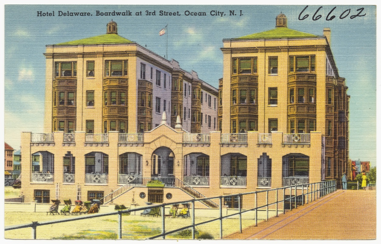 Hotel Delaware Boardwalk At 3rd Street Ocean City N J