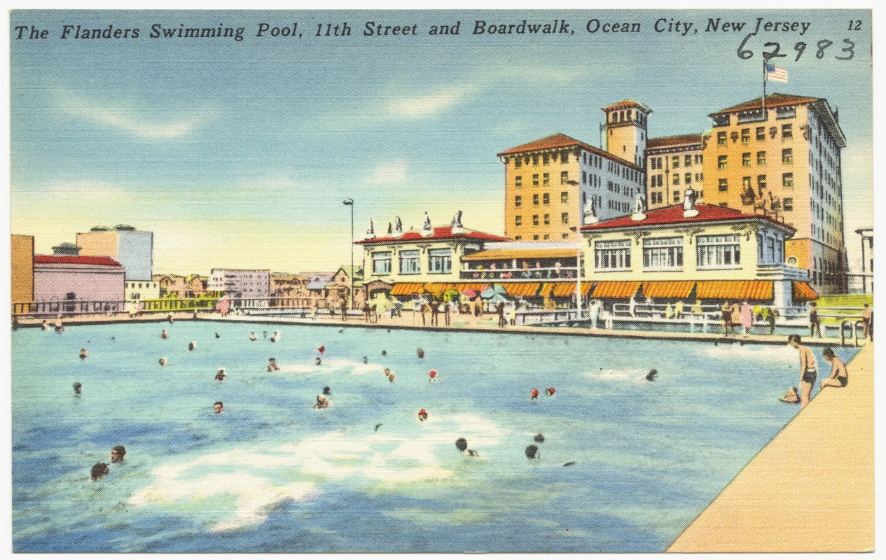 The Flanders Swimming Pool 11th Street And Boardwalk Ocean City New Jersey Digital Commonwealth
