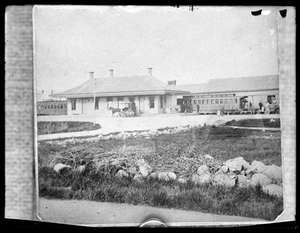 First railroad station west of railroad south of Centre St