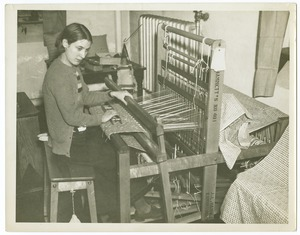 Weaving on a Loom, Perkins Institution
