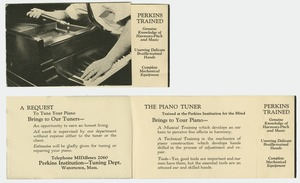 Perkins Institution Piano Tuning Pamphlet
