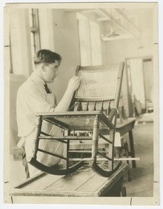 Chair Caning, Perkins Institution
