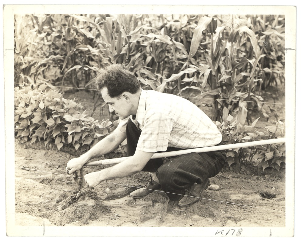 Attaching a Hoe to a Guide Wire, Perkins School for the Blind