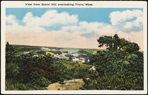 View from Storm Hill overlooking Truro, Mass.