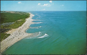 Aerial view, head of Meadow Beach National Seashore, Truro - Cape Cod - Mass.