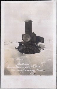 Stalled! Snow storm, Jan. 15, 1910, No. Truro, Cape Cod, Mass.