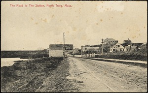The road to the station, North Truro, Mass.