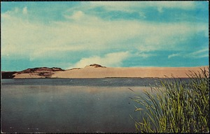 Fresh water lake and dunes. Cape Cod, Mass.