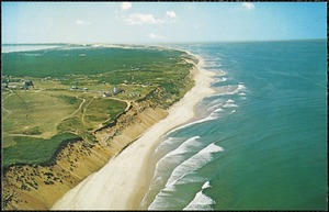 Aerial view of Cape Cod Light, Truro, National Seashore, Cape Cod, Mass.