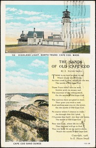 Highland Light, North Truro, Cape Cod, Mass., Cape Cod sand dunes