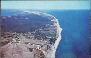 Cape Cod, Mass. An aerial view of Highland Light, looking north towards Provincetown