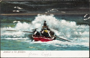 Lifeboat in the breakers