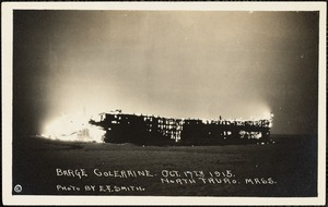 Barge Coleraine, Oct. 17th, 1915, North Truro, Mass.