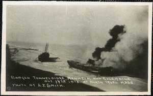 Barges Tunnelridge, Manheim and Coleraine, Oct. 17th, 1915, at North Truro, Mass.