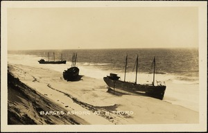 Barges ashore at N. Truro