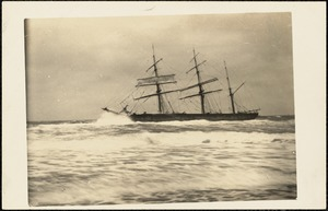 "The wreck of the ""Castagna"", So. Wellfleet, Feb. 17, 1914"