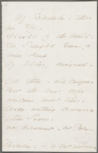 Emily Dickinson, Amherst, Mass., autograph manuscript poem: Of tribulation these are they, 1862