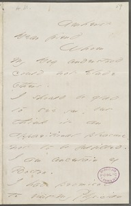 Emily Dickinson, Amherst, Mass., autograph letter signed to Thomas Wentworth Higginson, 17 March 1866